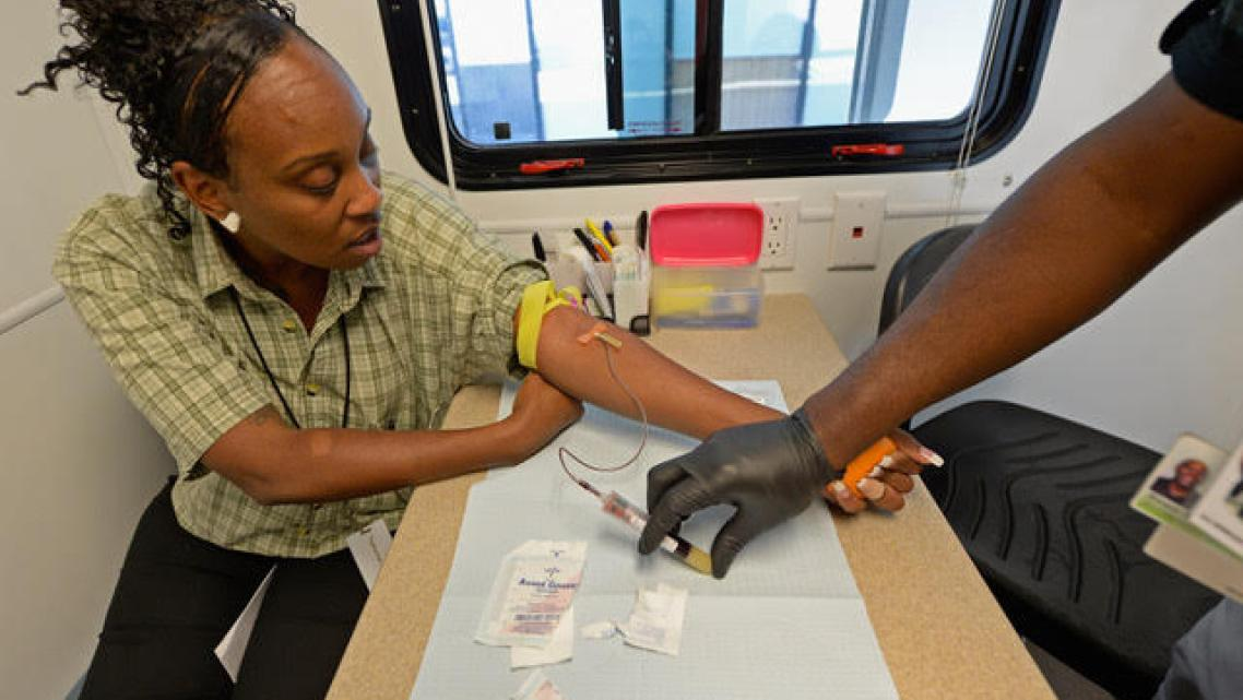 Testing for STDs and HIV/AIDS at a mobile unit in Los Angeles. (Photo: Kevork Djansezian/Getty Images)