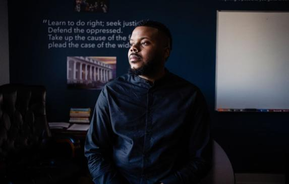 Michael Tubbs. (Photo by Nick Otto/AFP via Getty Images)
