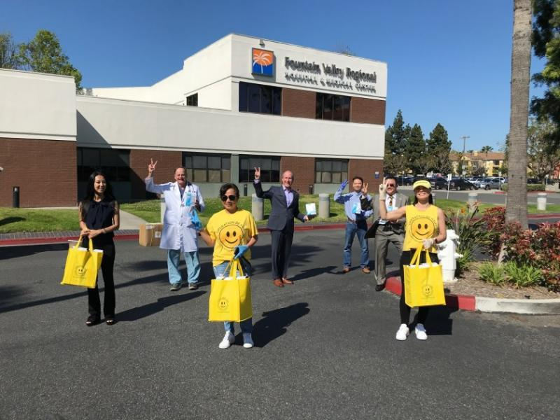 The nonprofit Operation Be Kind delivered about 1,000 N95 masks to Fountain Valley Regional Hospital & Medical Center in April.(Courtesy of Tenet Health)