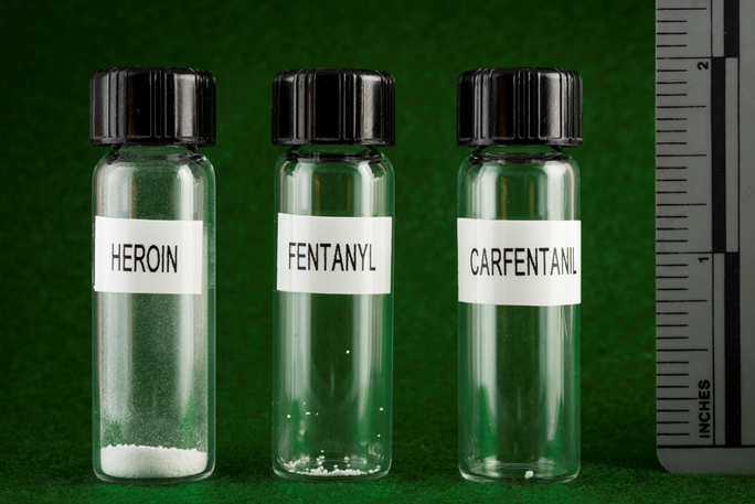 Widely-shared images of opioids show their relative potency — fentanyl and its analogs, which are proliferating in the West Coast drug supply, are far more potent than heroin.