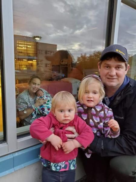 The Carter family in Juneau after the birth of their youngest child. (Image courtesy of the family)