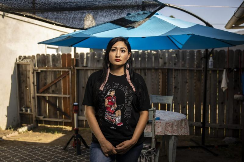 Melissa Alcala at her home in eastern Los Angeles in August. Photo by Martin do Nascimento / Resolve Magazine.