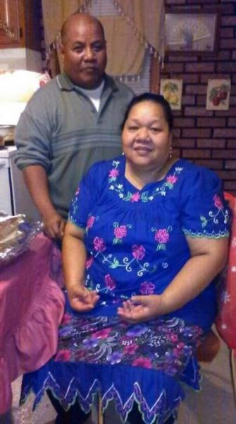 Nathan Nathan and his wife Neibwen Naisher, who passed away from Covid-19 in April. (Courtesy Nathan Nathan)