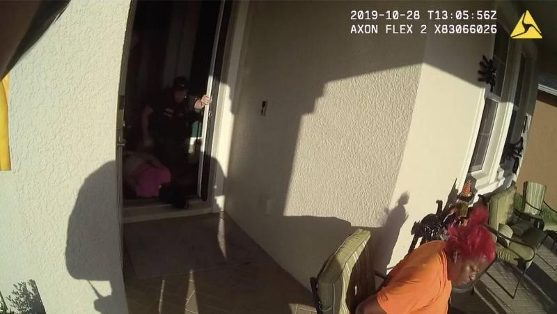 Several deputies handcuffed Da'Marion Allen's family members at their front door in October 2019. Pasco Sheriff's Office