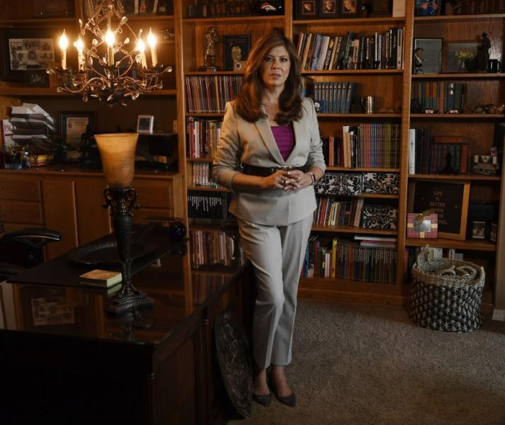Susan Payne, founder of Safe2Tell, is pictured at her home on Sept. 3, 2020. Andy Cross, The Denver Post