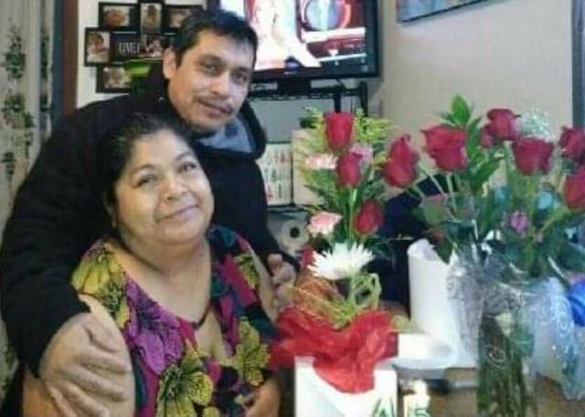 Sarai Camarillo's parents Candelaria and Margarito Lucero grew up in the same town in Mexico. 'He was my first boyfriend,' says Candelaria. 'We went our separate ways and we both had children with other partners. Then we reunited here [in Chicago].' (Courtesy of Candelaria Lucero)