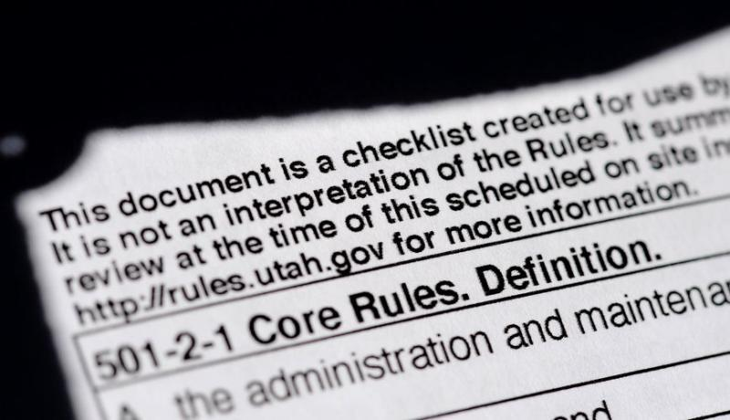 (Francisco Kjolseth   The Salt Lake Tribune) A close-up photo of the checklist used by Office of Licensing inspectors.