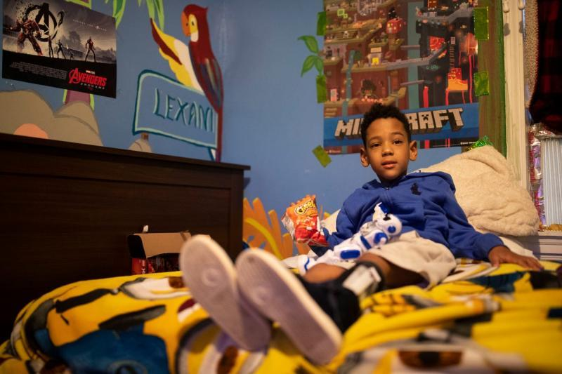 Zayden, 6 plays in his bed Thursday afternoon, Aug. 20, 2020. He has epilepsy, mild autism, hydrocephalus of the brain, and asthma. Alicia Devine/Tallahassee Democrat