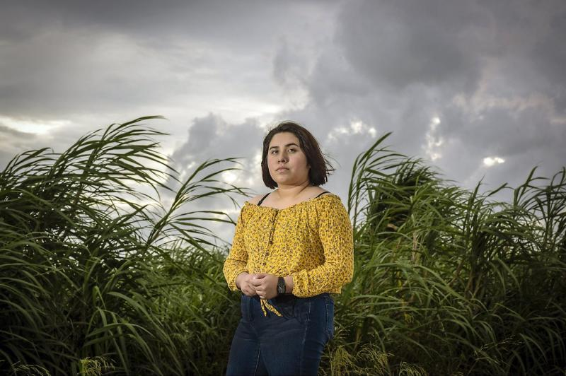 Jasmine Calderon drew motivation from teachers and mentors to successfully finish her senior year at Pahokee High in Palm Beach County. MELANIE BELL, THE PALM BEACH POST