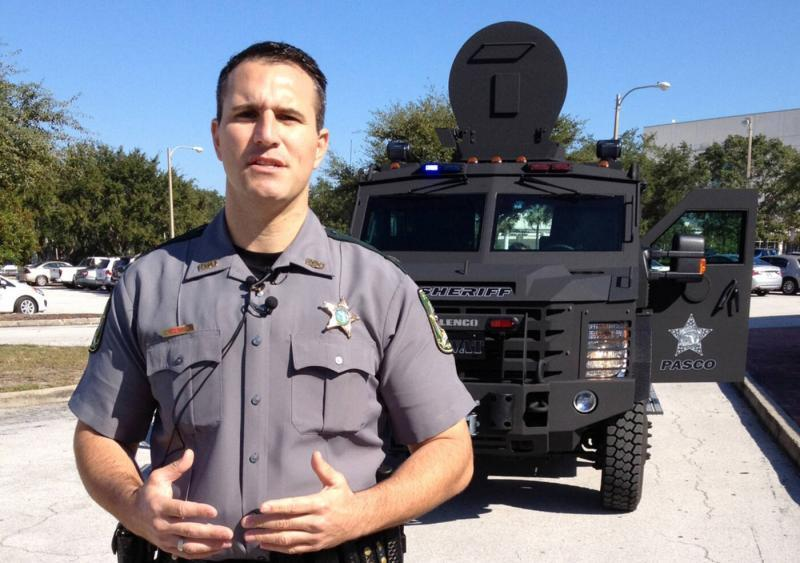 Sheriff Chris Nocco unveils Pasco County's new SWAT vehicle in 2011. Times (2011)