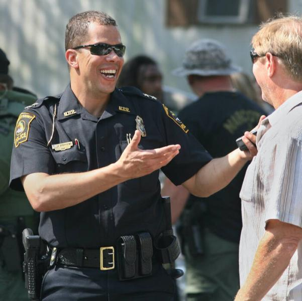 Then New Port Richey Police Chief James Steffens talks with a lieutenant after a SWAT team operation in 2012.Times (2012)