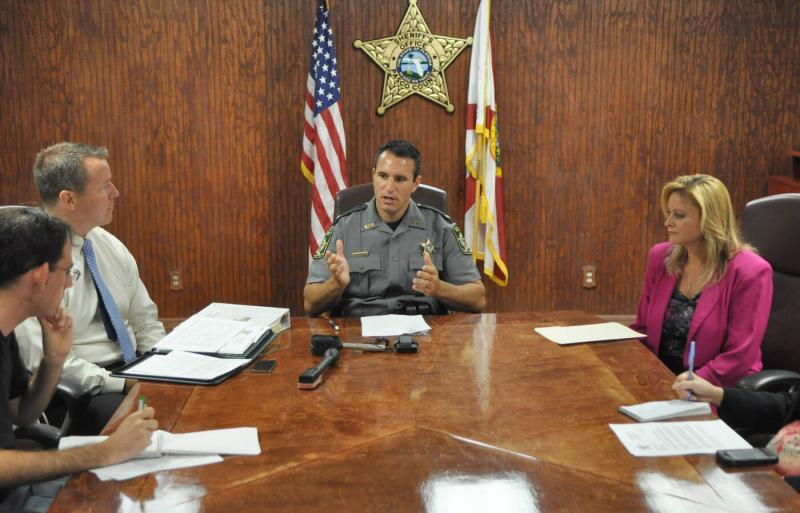 In a meeting during his first year in office, Sheriff Chris Nocco explains the agency's new focus on intelligence-led policing. Times (2011)