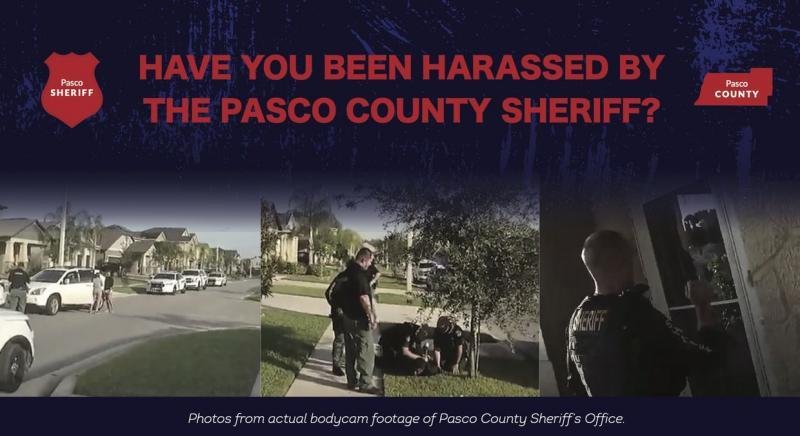 The Institute for Justice, a national public interest law firm, sent out flyers to Pasco County residents about their experience with the Sheriff's Office. [ Institute for Justice ]