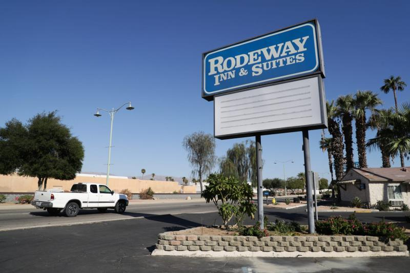Rodeway Inn & Suites in Indio, Calif., partnered with the state for Project Roomkey, an effort by the state to house individuals experiencing homelessness during the COVID-19 pandemic. VICKIE CONNOR/THE DESERT SUN