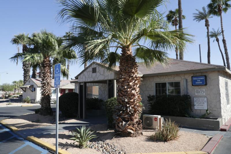 Rodeway Inn & Suites in Indio, Calif. partnered with the state for Project Roomkey, an effort by the state to house individuals experiencing homelessness during the COVID-19 pandemic. VICKIE CONNOR/THE DESERT SUN