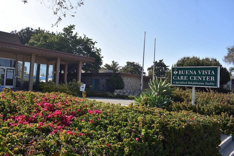 Buena Vista Care Center at 160 S. Patterson Ave. in Santa Barbara. Buena Vista reported a large outbreak in December, with more than 70 positive residents and nearly 60 positive workers. (Brooke Holland / Noozhawk file photo)