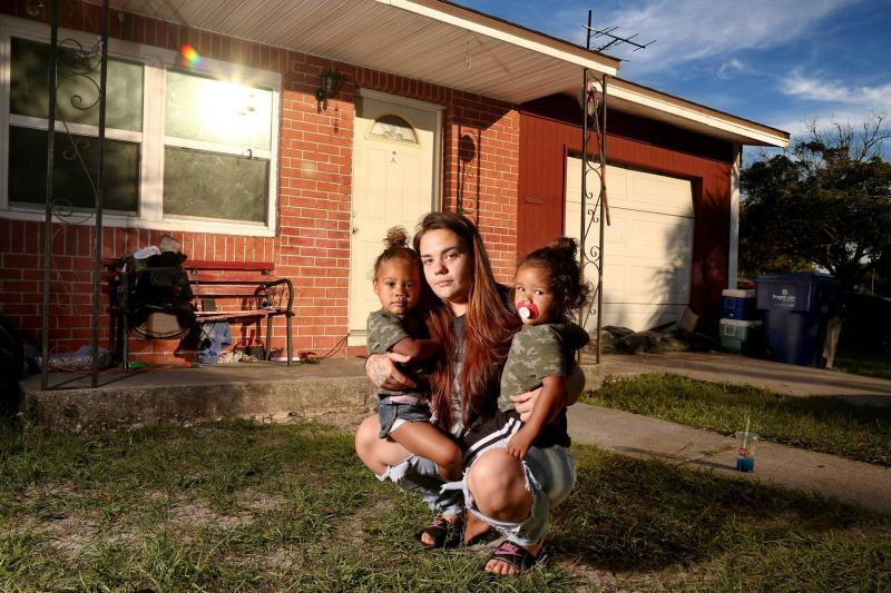 Dalanea Taylor, now 20, pictured with her young children, Liberty and Freedom. She felt uncomfortable with deputies' questions about boyfriends and male friends. DOUGLAS R. CLIFFORD | Times