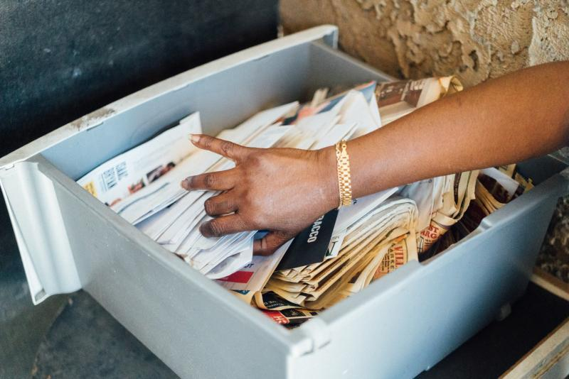 Mail arrives in a jumbled pile for tenants in different units. (AL KAMALIZAD/LAIST)