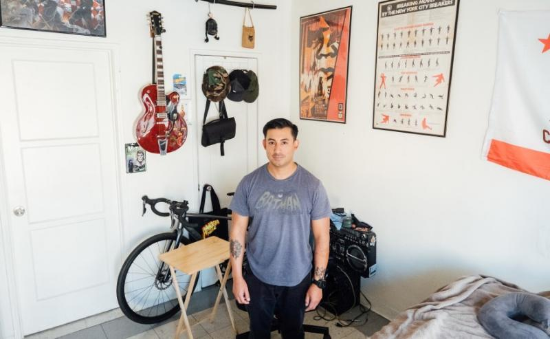 Tenant Miguel Roman is pictured in his apartment. (AL KAMALIZAD/LAIST)