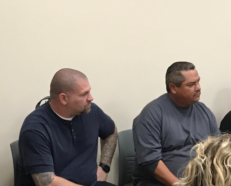 Juan Muro, right, struggled with alcoholism and homelessness before a trip to the county hospital put him in touch with substance abuse counselor Taylor Haynes, left, who helped him enter recovery. (Photo: Chinyere Amobi/CHJ)