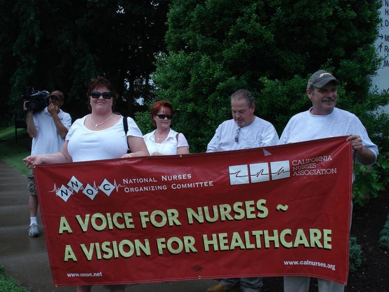 california nurse association, strike, reporting on health