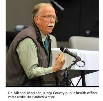 Dr. Michael MacLean, Kings County public health officer. photo credit: The Hanford Sentinel.