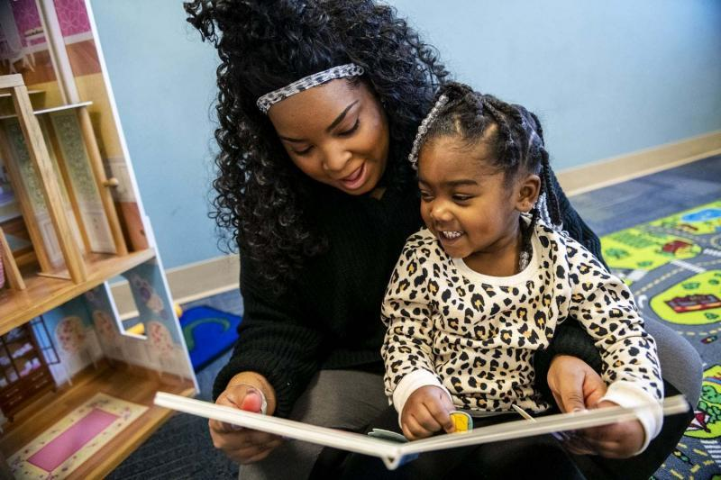 By completing community engagement sessions and classes while pregnant, Jasamin Johnson, 25, was able to move into Family Scholar House three weeks after her daughter Taylor Norfleet, now 3, was born.