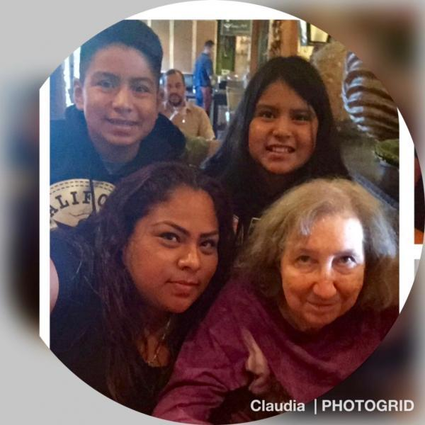 This social media post by Claudia Hernandez shows her with her two children, Ezekial and Natalie, and godmother, Colleen Loughman. (Claudia Hernandez)