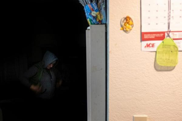"""Eufemia """"Jenni"""" Aguilar wakes up at 2:30 a.m. and gets ready to make her 4:30 a.m. shift at Christopher Ranch, where she works as a garlic peeler. SEBASTIÁN HIDALGO FOR THE SALINAS CALIFORNIAN AND CATCHLIGHT.IO"""