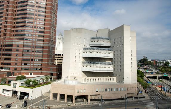 The Metropolitan Detention Center in downtown Los Angeles.