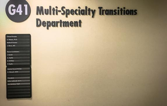Multi-Specialty Transitions Department for Kaiser Permanente in Oakland.