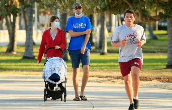 Is this family breathing in this runner's plume? Or are the rules outside fundamentally different?