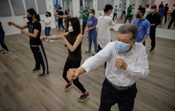 Asian Americans in New York attend an April self-defense class organized in response to ongoing violent attacks across the count