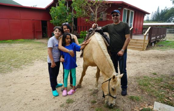 Lilian Ansari of Oakland with her husband Saied, daughter Atrina, 11, and son Ardalon, 15, on vacation before the pandemic. Life