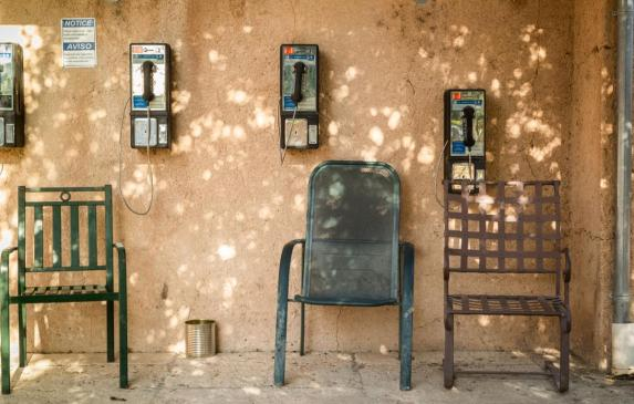 Payphones for use by residents of the River Ranch Farmworker Center in St. Helena.