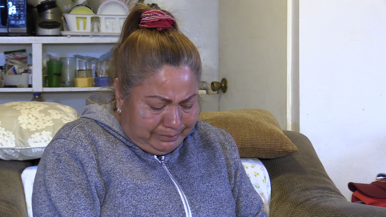 Undocumented farm worker worker Rosa Franco discusses her health conditions